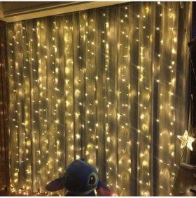 Световые гирлянды шторы