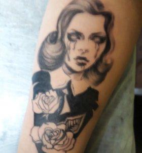 Tattoo. Художественная татуировка.