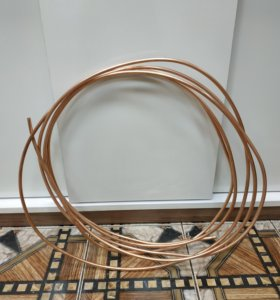 Трубка медная отоженная 10мм толщина стенки 1 мм