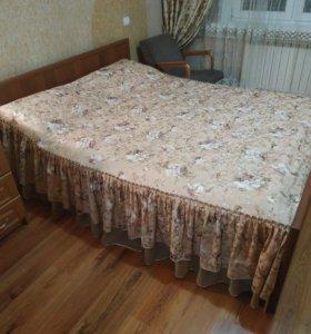 Кровать 2ух спальная с матрасом
