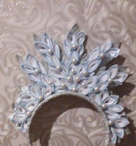 Корона снежинка на ободке