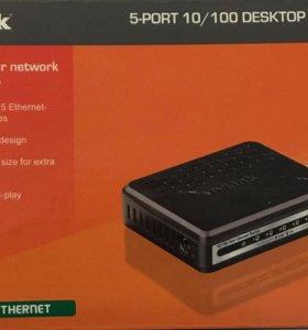 Коммутатор dlink DES-1005A