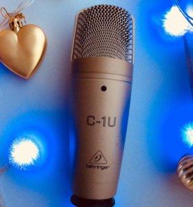 Студийный микрофон Behringer c-1u usb