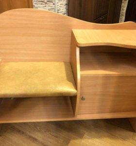 Банкетка для прихожей с сиденьем и ящиками