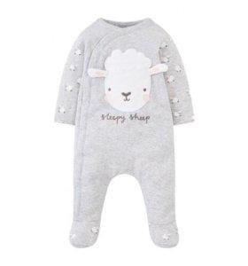 Новая тёплая пижама Mothercare