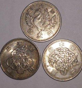 Серебряные монеты Японии