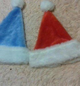 шапка деда мороза и снегурки