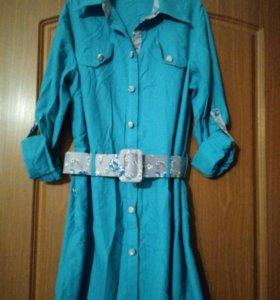 Туника -  рубашка 46