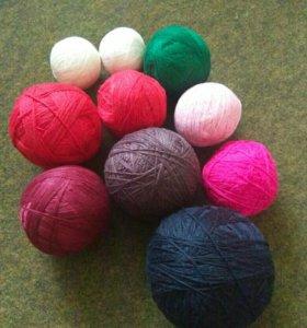 Пряжа для вязания 100% шерсть