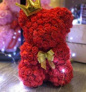 Мишка из фоамирановых роз в Омске