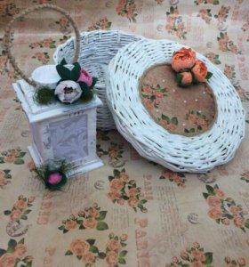 Плетёная шкатулка