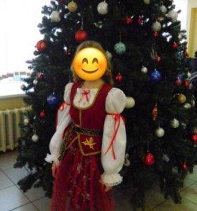 Новогодний костюм на девочку 10-12 лет