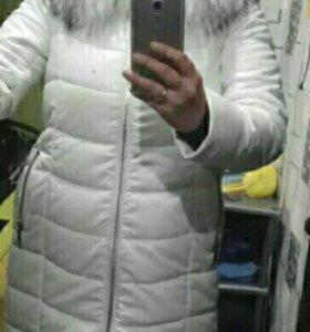 Куртка пальто зимняя белая