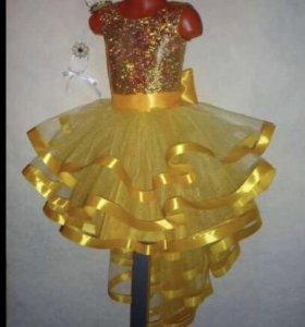 Костюм карнавальный на девочку «Золотая рыбка»