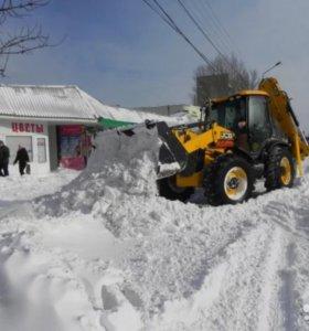 Уборка снега.Чистка и вывоз снега.