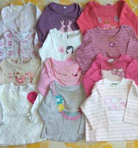 Одежда на девочку 3-6 месяцев(62-68 размер)