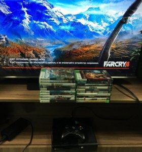 Xbox 360 прошитый + много игр .