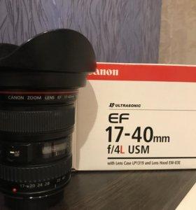 Объектив для Canon 17-40mm f/4l usm
