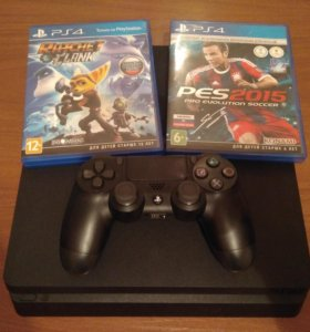 Playstation 4 Slim + Игры