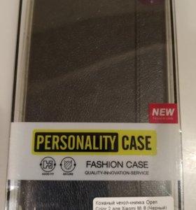 Кожаный чехол-книжка Open Color 2 для Xiaomi Mi 8