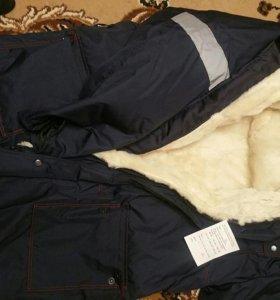 Пальто зимнее на натуральной овчине