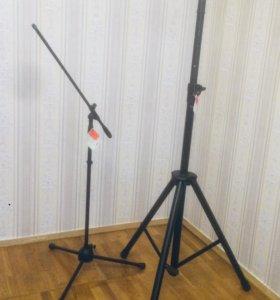 Микрофонные и спикерные стойки