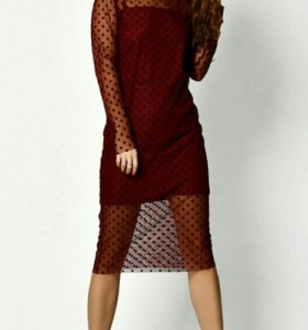 Платье с сеткой новое