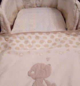 Комплект белья mothercare для колыбели
