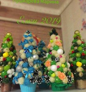 Новогодние ёлочки ручной работы