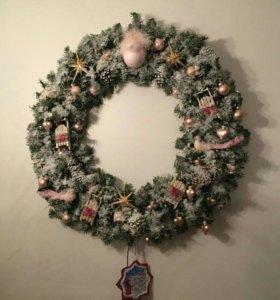 Рождественские и новогодние венки