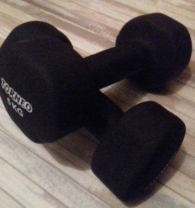 Гантели 5 кг Torneo 2 шт