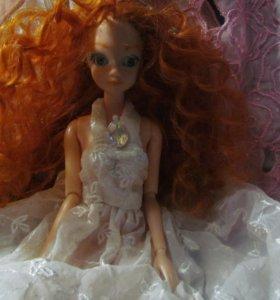 кукла тип барби рыжая шарнирная