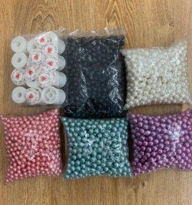 Бусины для рукоделия пластик