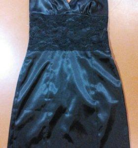 Чёрное вечернее платье 42-44