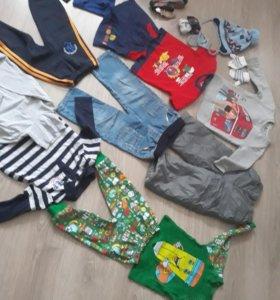 Вещи детские(штаны,пижама,кофточки,шапка)