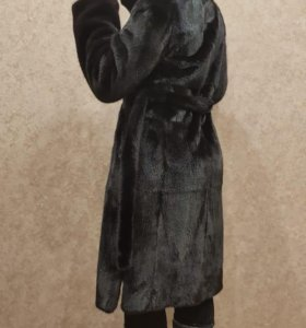 Шуба норковая чёрный бриллиант