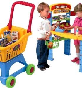 Игра в магазин, тележка для покупок PlayGo Испания