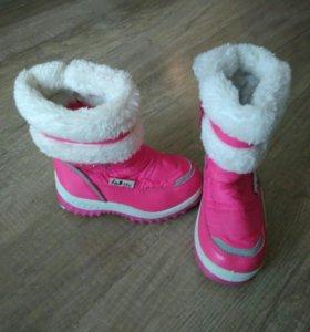 Зимняя обувь для девочки. Дутики. Размер 22
