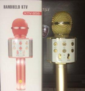 Нов. беспроводной блютуз караоке микрофон