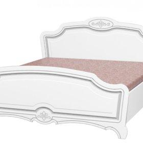 Кровать двухспальная Лотос Белый жемчуг
