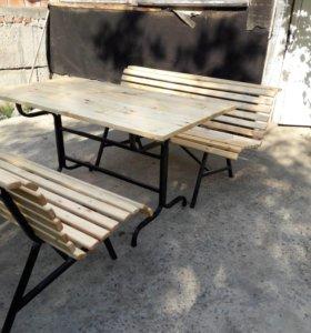 Скамейка, стол