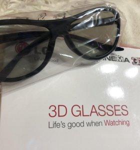 3D очки LG 4шт. Новые