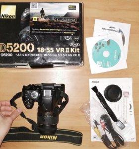Nikon d5200 kit в полной комплектации