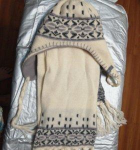 Шапка, шарф зима