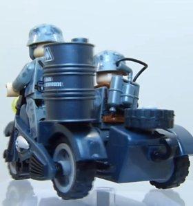 Новые лего 3 мотоцикла WW2: немцы 6, 8, 10, 12шт.