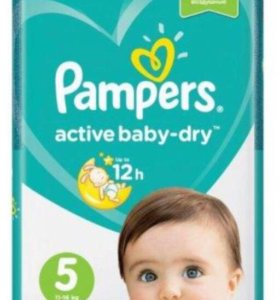 Pampers active baby dry 5 (11-16кг) 60шт