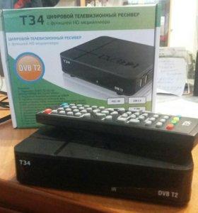 Ресивер эфирный цифровой DVB-T2 HD, T34