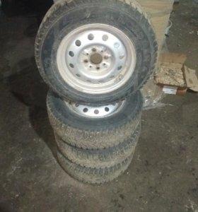 Продам колеса нордман-4 зима
