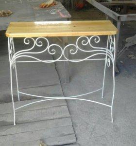 столик кованый консольный