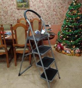 Стремянка стул 4 широкие ступени